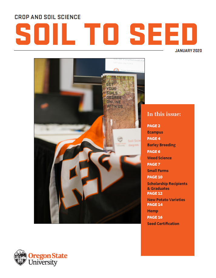 Front cover of the 2019 Crop & Soil Science Soil to Seed Annual Newsletter